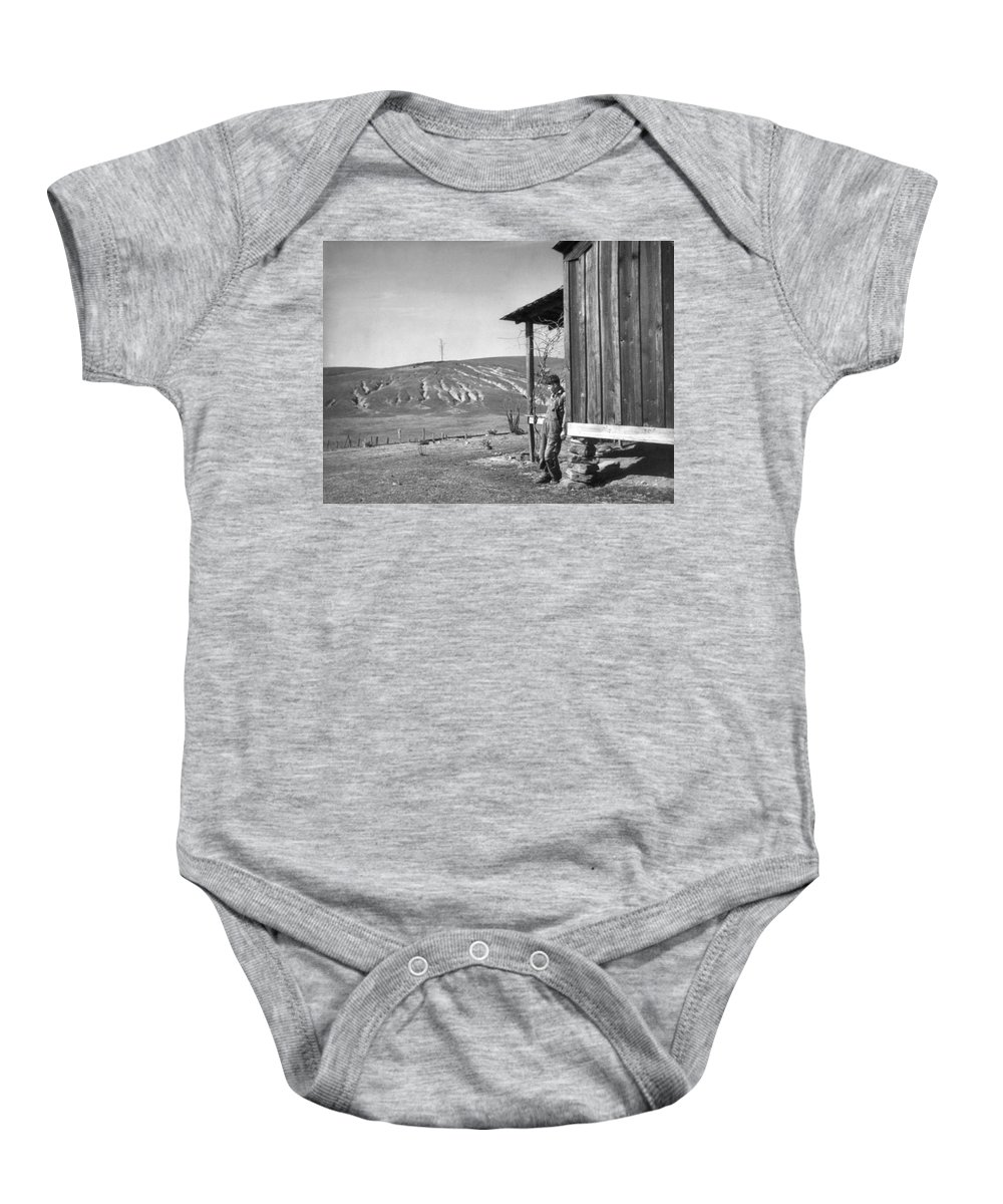 1937 Baby Onesie featuring the photograph Farm Erosion, 1937 by Granger