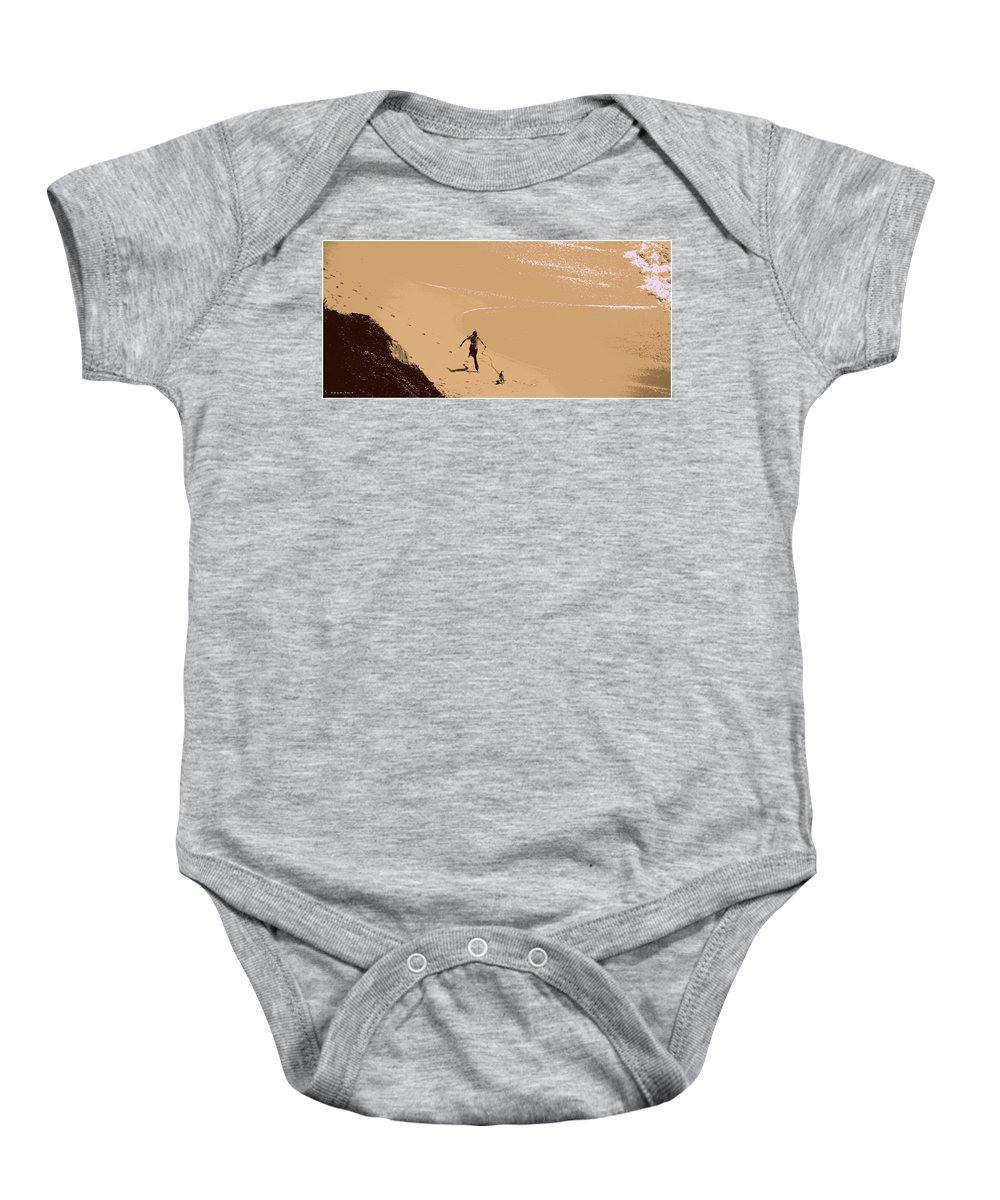 Fido's Funday Sunday Baby Onesie featuring the photograph Fido's Funday Sunday by Edward Smith