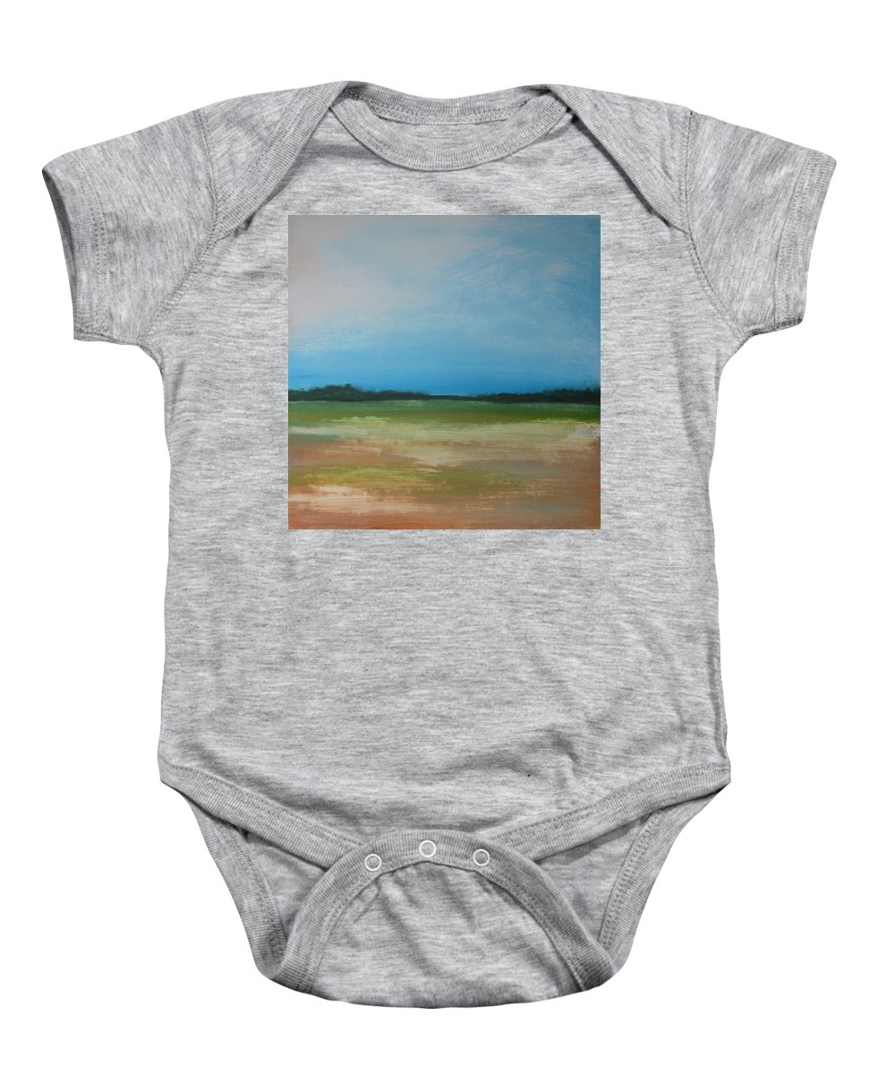 Landscape Baby Onesie featuring the painting Field 1 by Rhodes Rumsey