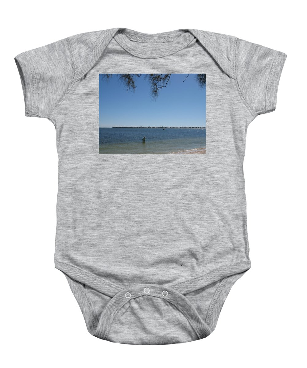Island Baby Onesie featuring the photograph Fisher - Sanibel Island by Christiane Schulze Art And Photography