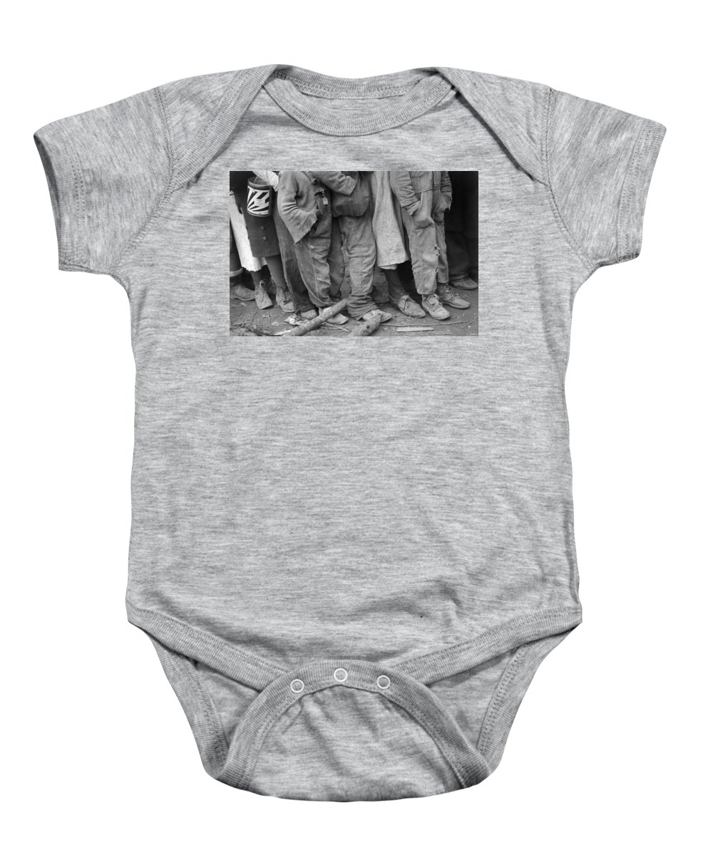 1937 Baby Onesie featuring the photograph Flood Refugees, 1937 by Granger