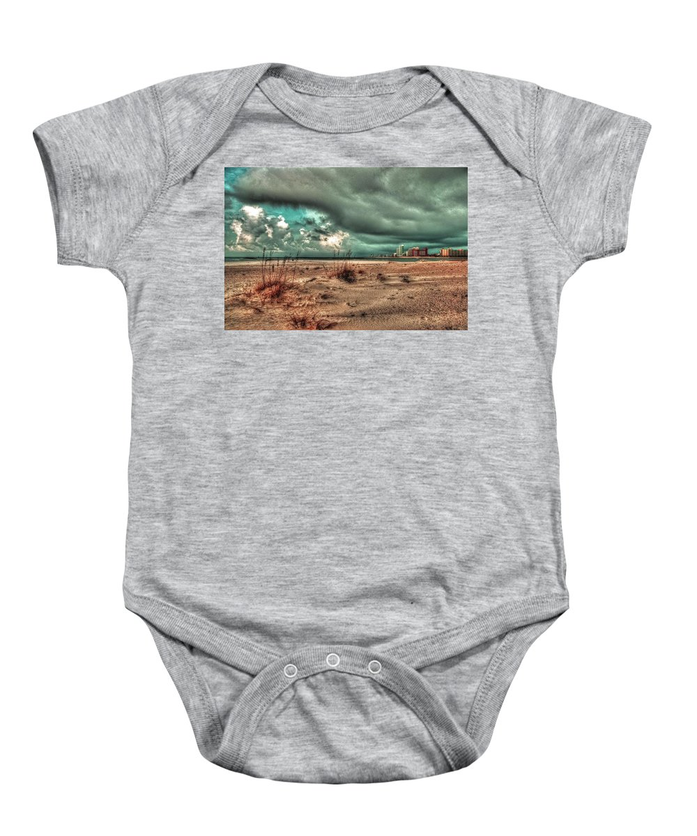 Alabama Photographer Baby Onesie featuring the digital art Florida Point Begining Of The Storm by Michael Thomas