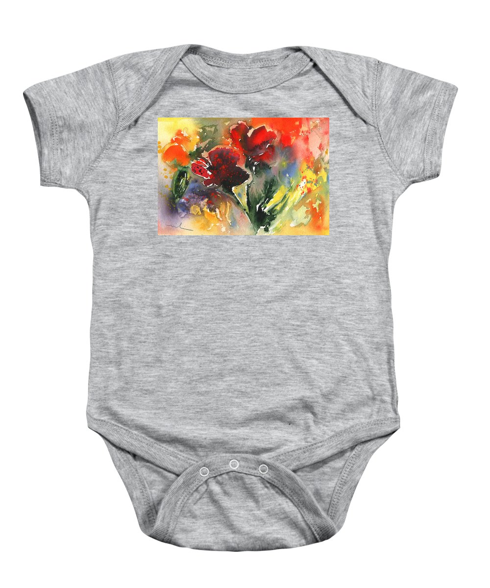 Impressionism Baby Onesie featuring the painting Flower Festival by Miki De Goodaboom