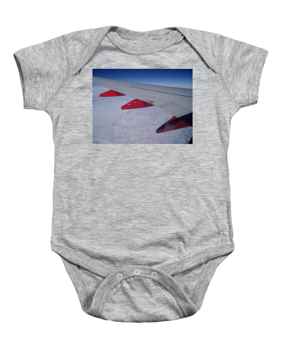 Red Baby Onesie featuring the photograph Fly Away With Me by Jennifer E Doll