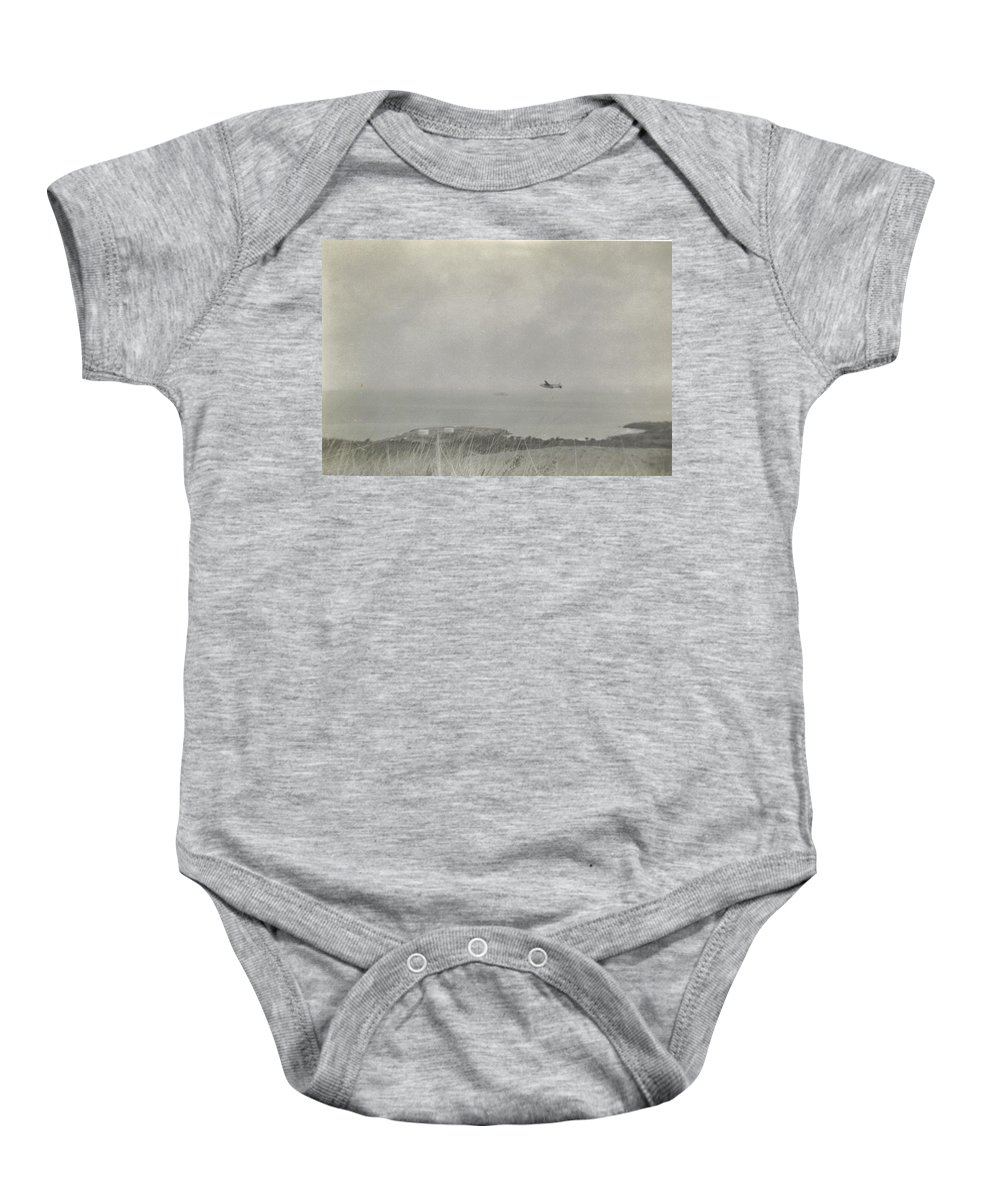 Used To Transport Troupes And Supplies For Military. Baby Onesie featuring the photograph Flying Boxcar Airplane by Robert Floyd
