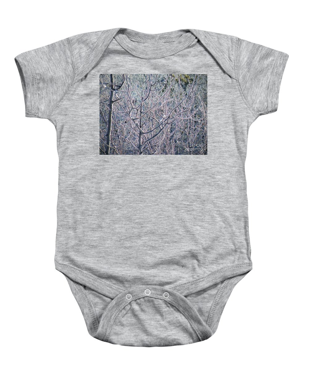 Brian Boyle Baby Onesie featuring the photograph Forests Of Frost by Brian Boyle