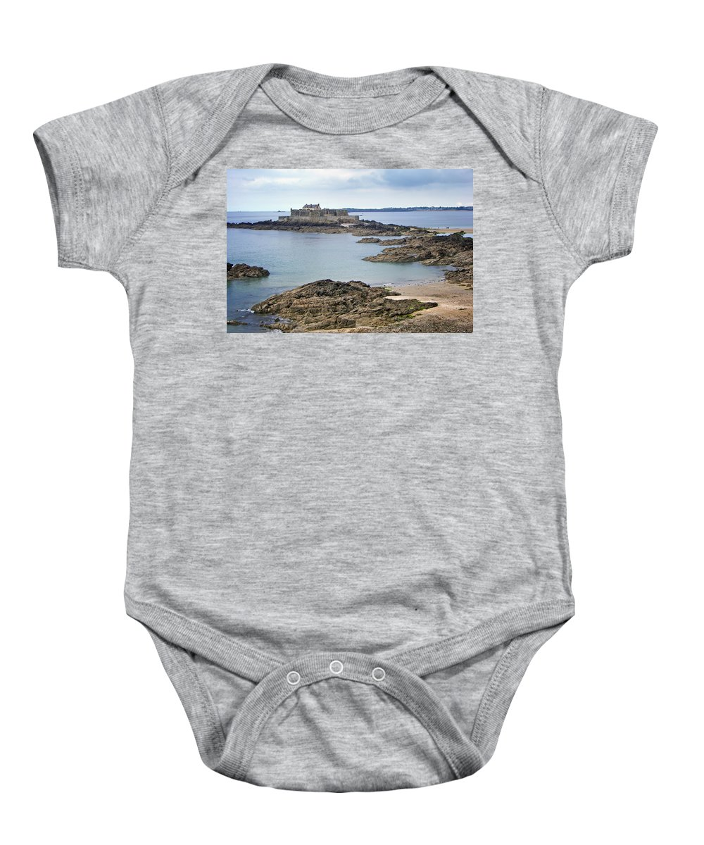 Fort Baby Onesie featuring the photograph Fort National by Nikolyn McDonald