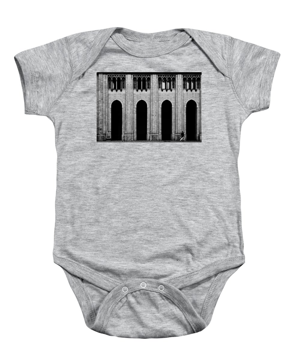 Munich Baby Onesie featuring the photograph Four by Jean-Philippe Jouve