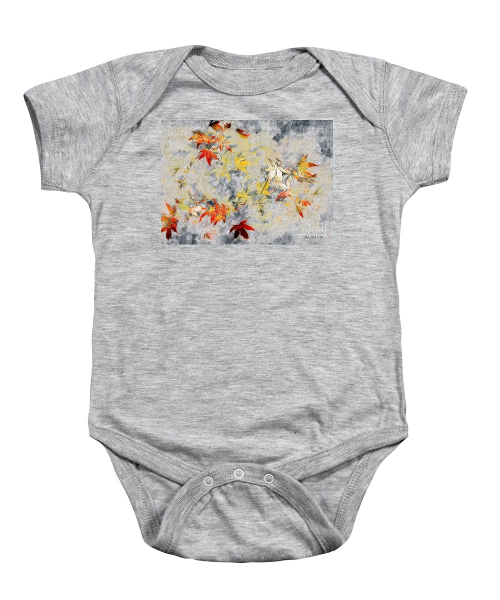 Ferns Baby Onesie featuring the painting Fragments Of Fall by RC DeWinter