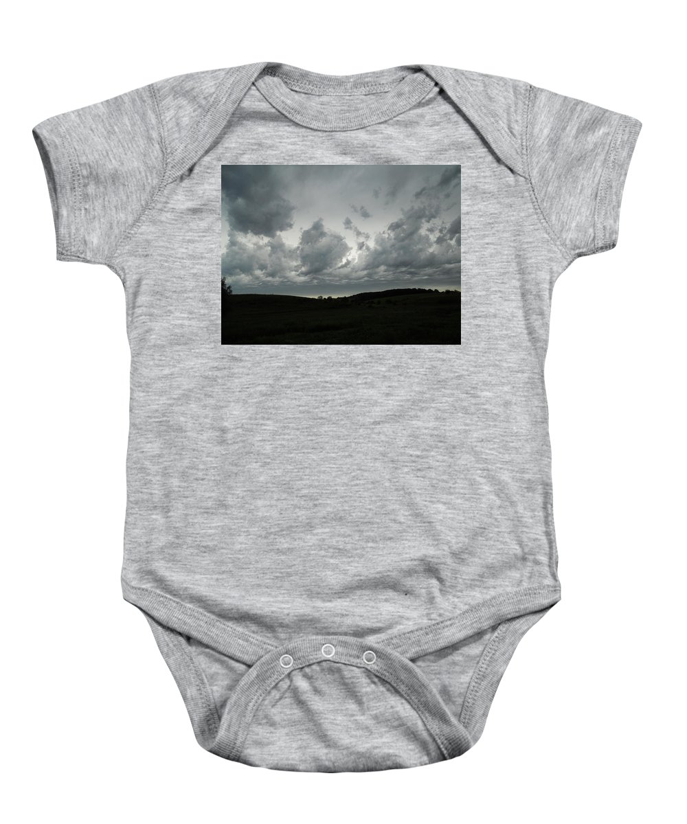 Clouds Baby Onesie featuring the photograph Framing The Land by Coleen Harty