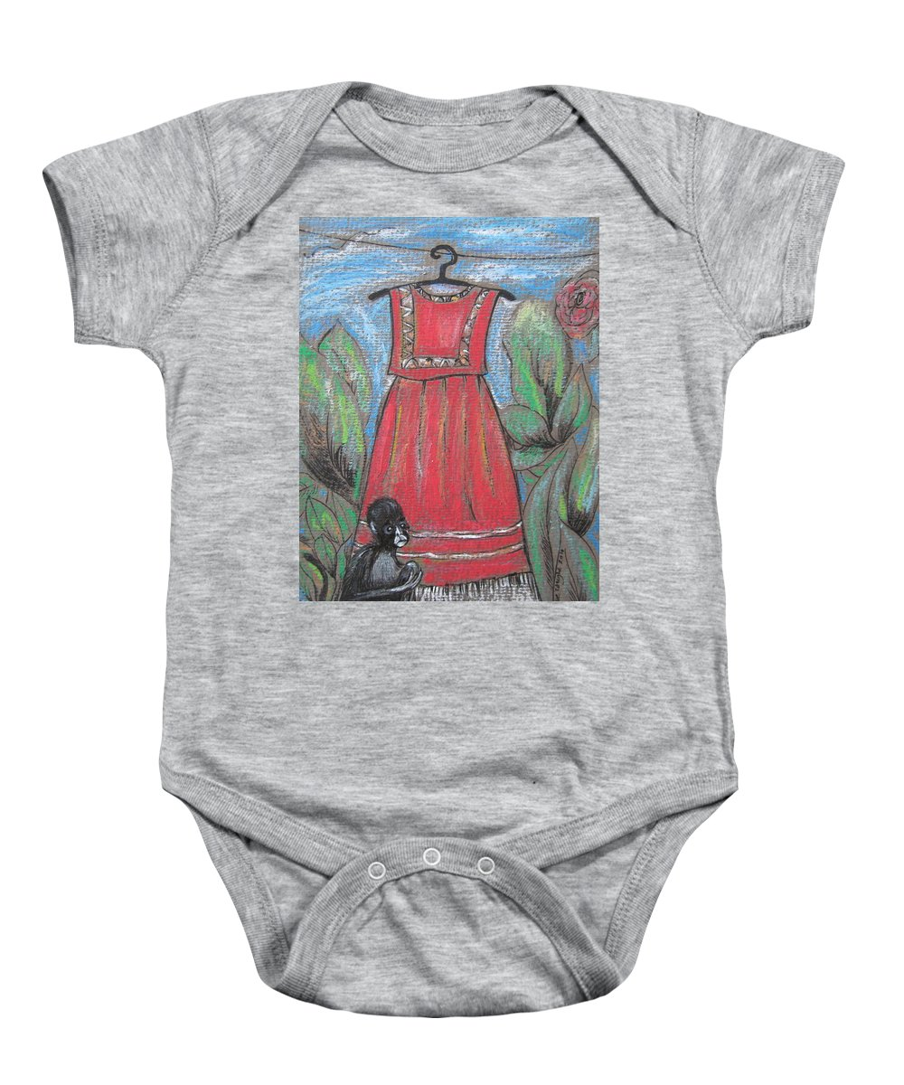 Frida Kahlo Baby Onesie featuring the painting Frida Homage II by Sue Wright