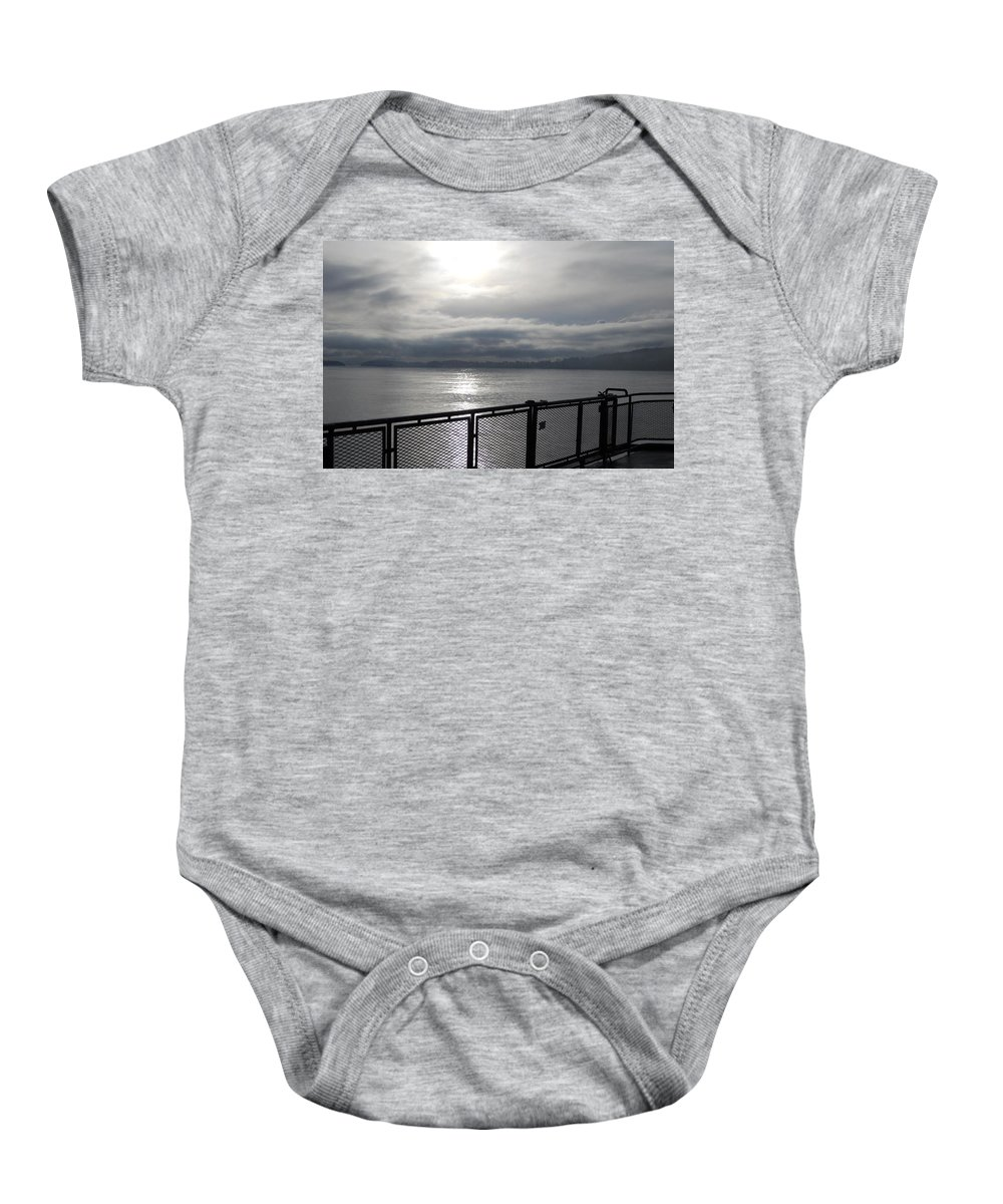 Baby Onesie featuring the photograph From The Deck by Coleen Harty