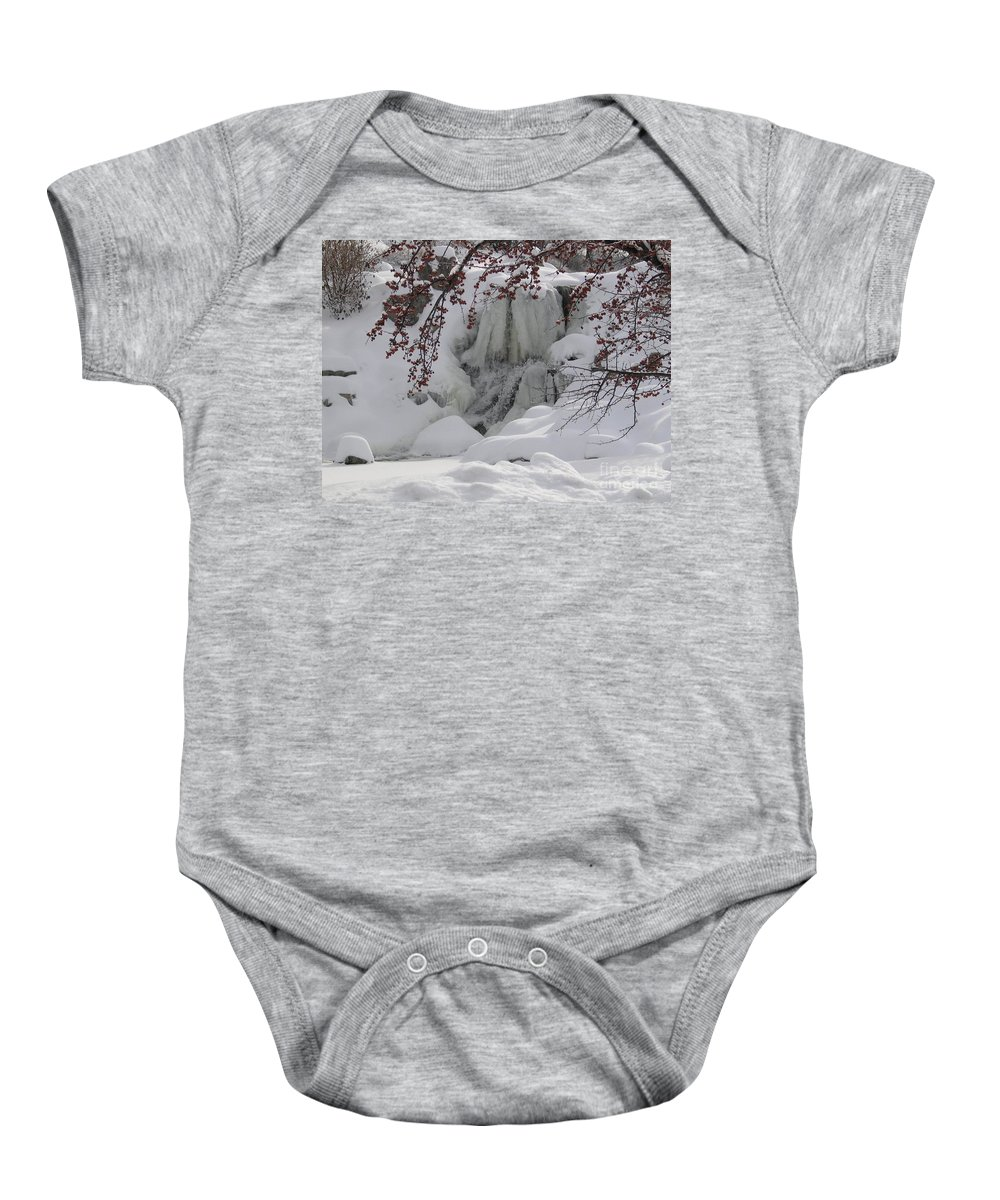 Ice Baby Onesie featuring the photograph Frozen Waterfall by SAJE Photography