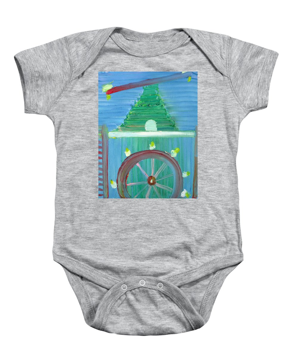 Funfair Baby Onesie featuring the painting Funfair by Fabrizio Cassetta