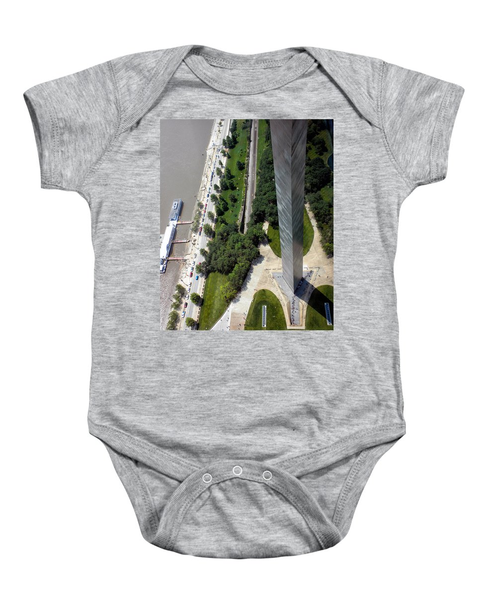 St Louis Baby Onesie featuring the photograph Gateway Arch St Louis 11 by Thomas Woolworth