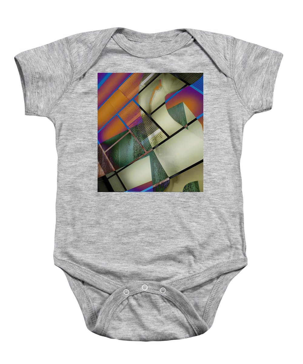 Abstract Baby Onesie featuring the photograph Gimmie Back by The Artist Project