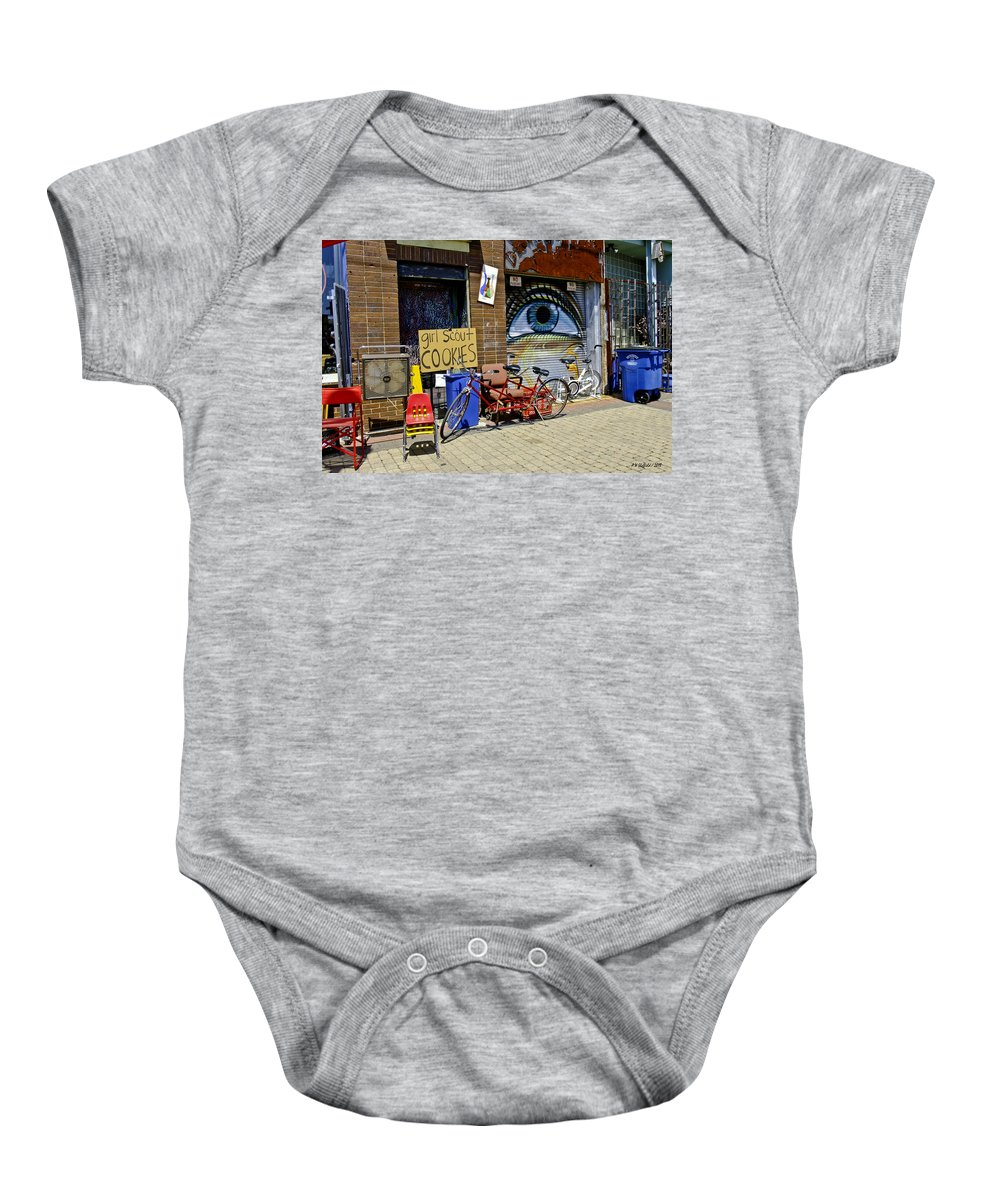 Deep Ellum Baby Onesie featuring the photograph Girl Scout Cookies by Allen Sheffield