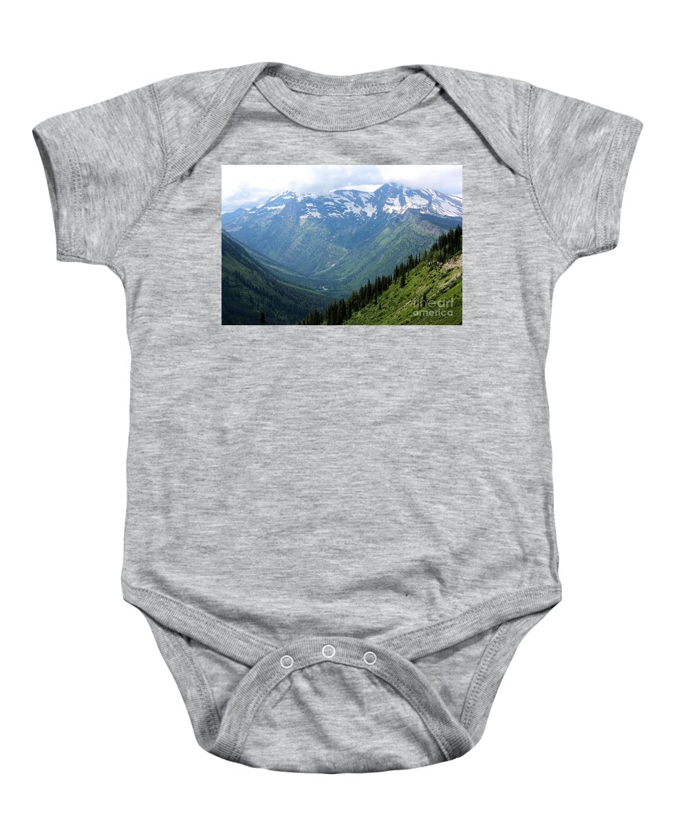 Mountain Baby Onesie featuring the photograph Glacier Mountain by Carol Groenen