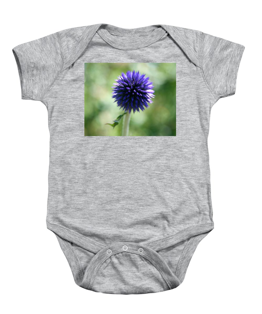 Globe Flower Baby Onesie featuring the photograph Globe Flower by Neal Eslinger