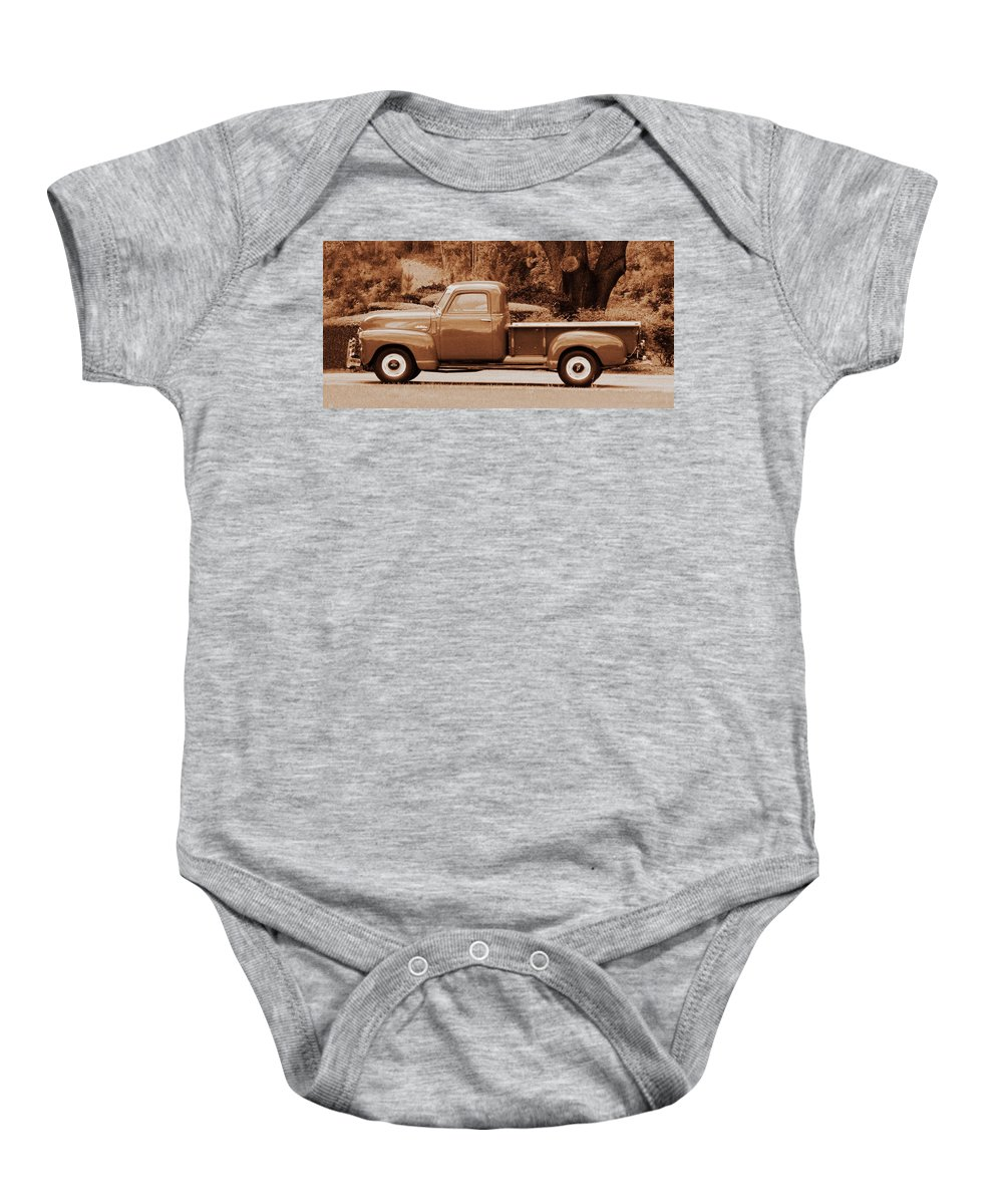 Antique Baby Onesie featuring the photograph Gmc 100 by Peg Urban