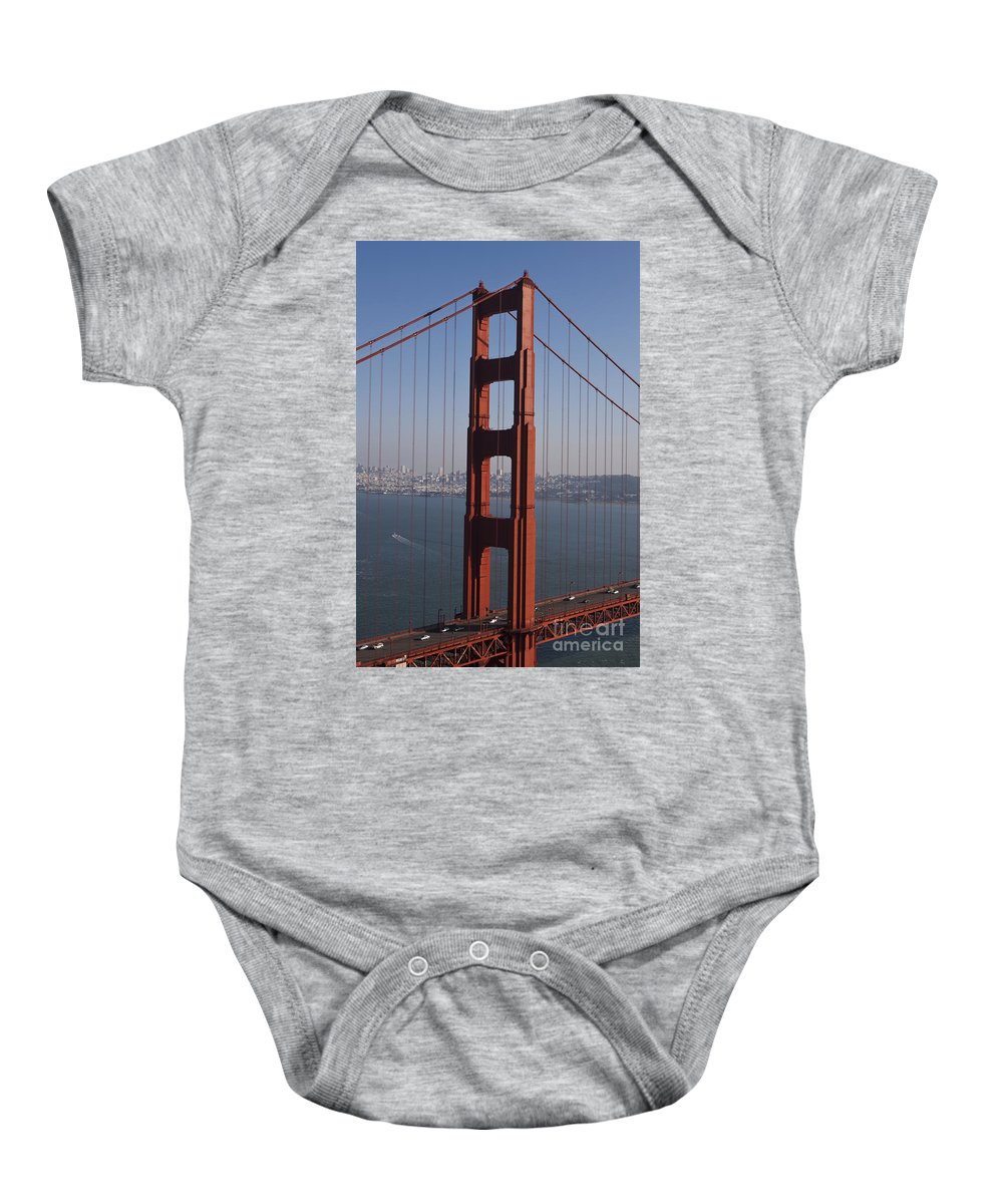 Golden Gate Bridge Baby Onesie featuring the photograph Golden Gate Bridge San Francisco by Jason O Watson