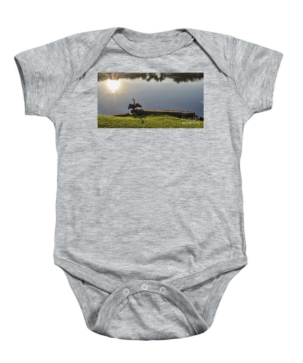 Bird Baby Onesie featuring the photograph Good Morning Sunshine by Judy Wolinsky