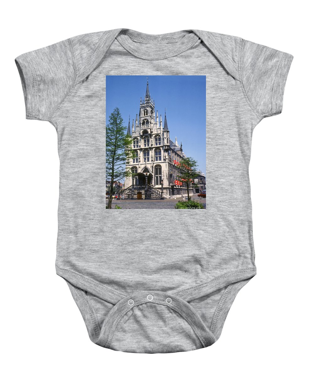 Gouda City Hall Baby Onesie featuring the photograph Gouda City Hall by Bob Phillips