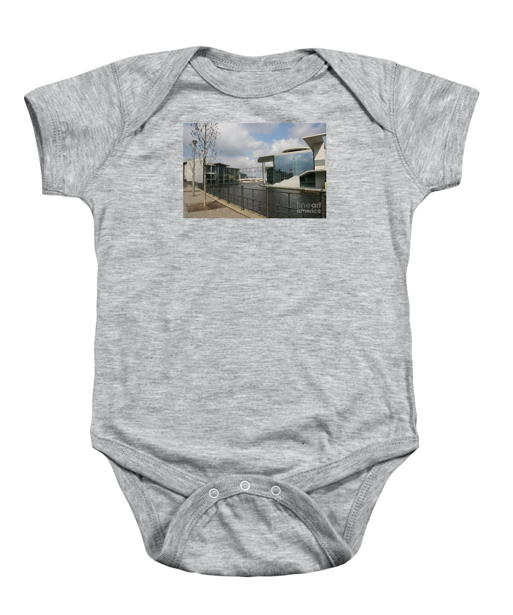 Goverment Building Baby Onesie featuring the photograph Government Building And Spree by Christiane Schulze Art And Photography
