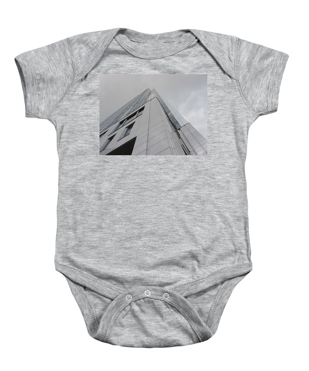 City Baby Onesie featuring the photograph Great American Tower At Queen City Square In Cincinnati by Cityscape Photography