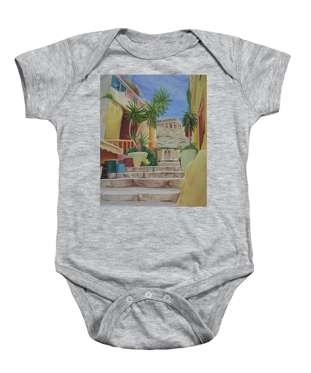 Greece Baby Onesie featuring the painting Greece by Joshua Morton