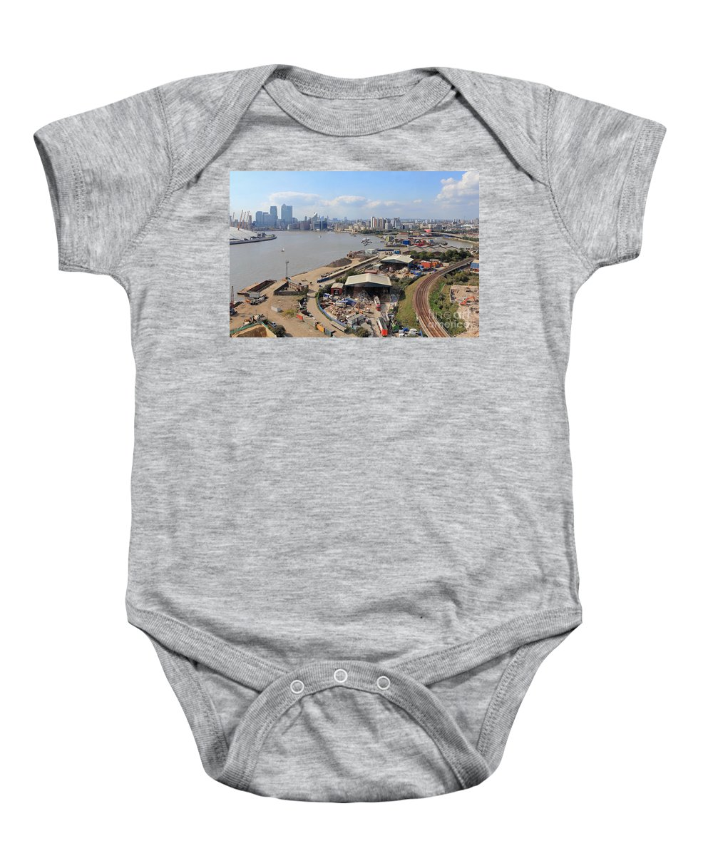 London Skyline Baby Onesie featuring the photograph Greenwich London by Julia Gavin