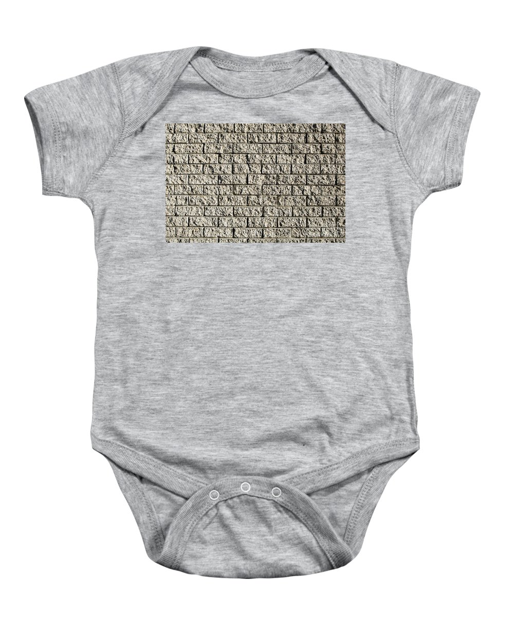 Apartment Building Baby Onesie featuring the photograph Grunge Wall by Tim Hester