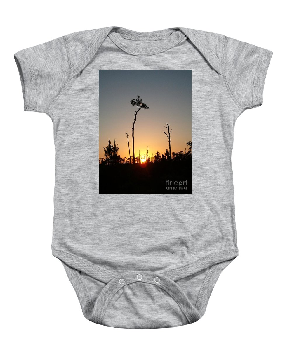 Gulf Shores Baby Onesie featuring the photograph Gulf Shores Sunset by Leara Nicole Morris-Clark