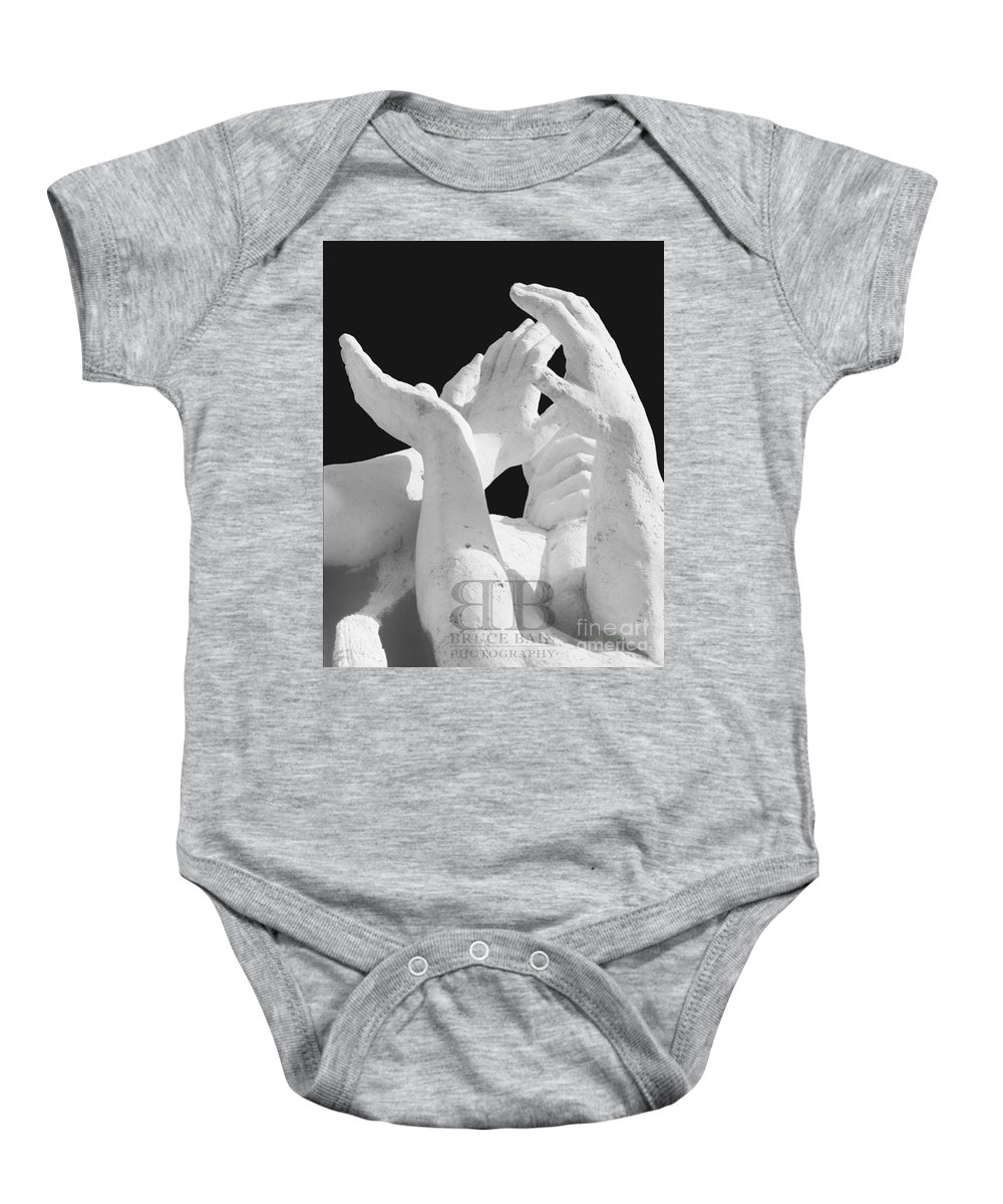 Hands Baby Onesie featuring the photograph Hands by Bruce Bain