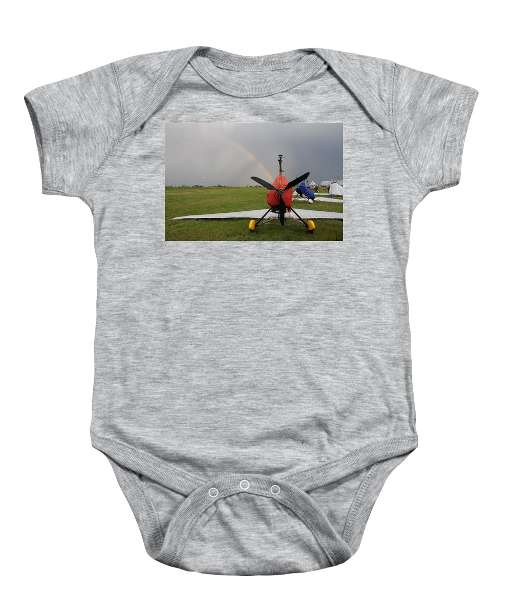 Hang Gliding Baby Onesie featuring the photograph Hang Gliding by Tatyana Baykusheva