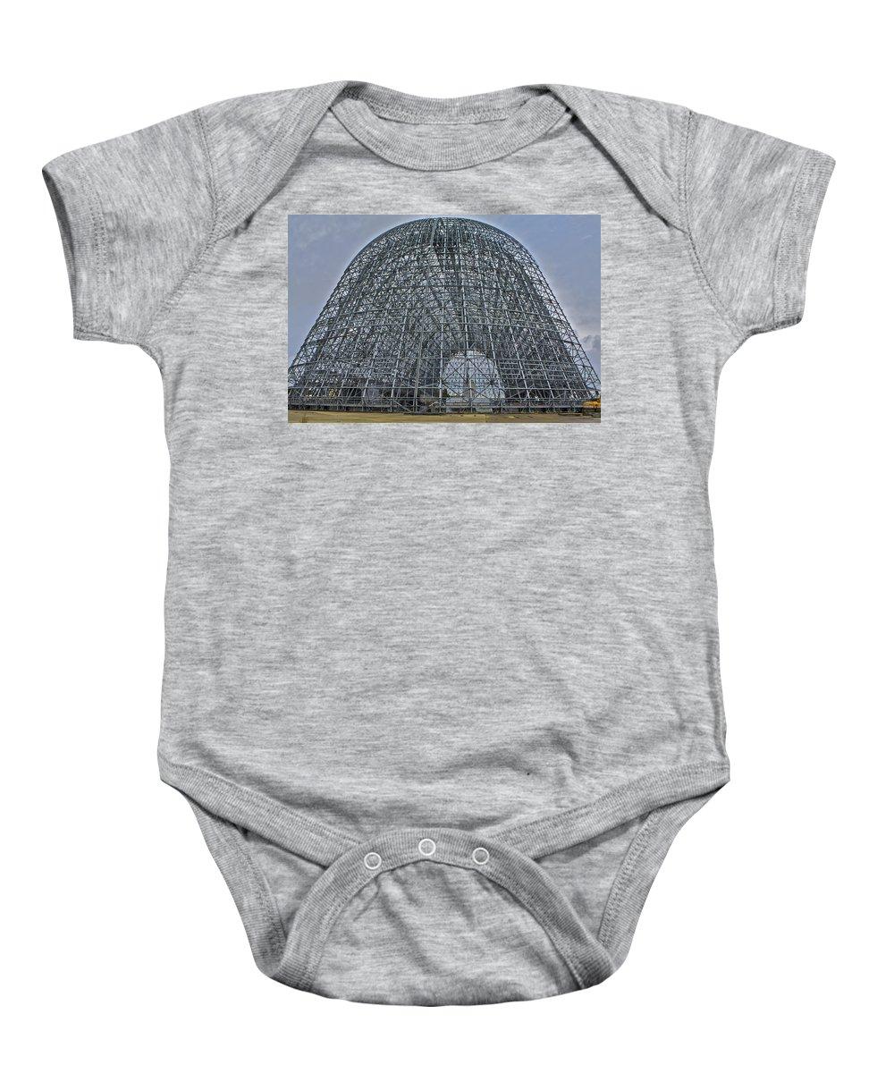 Hangar 1 Baby Onesie featuring the photograph Hangar One by SC Heffner