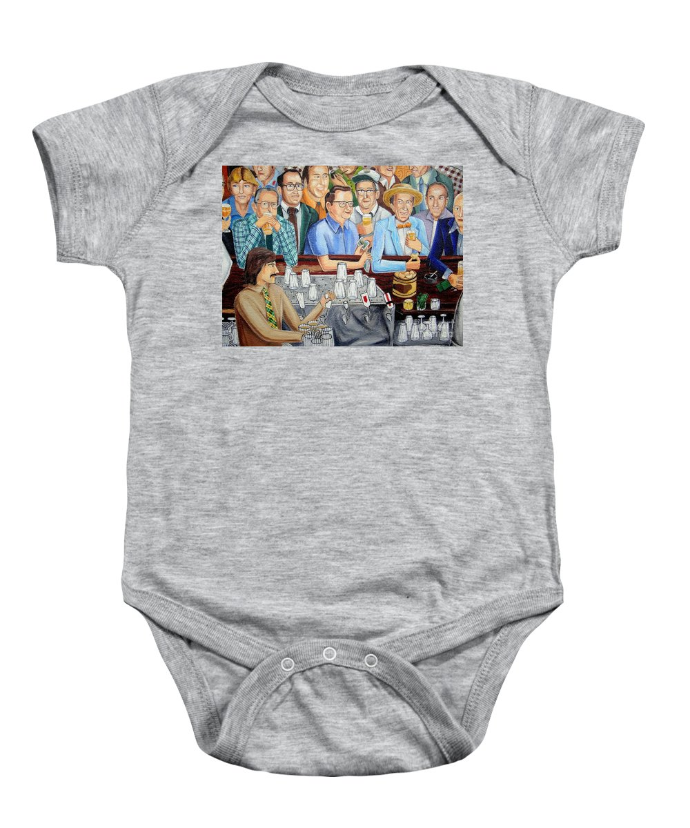 Mural Baby Onesie featuring the photograph Happy Hour by Ed Weidman