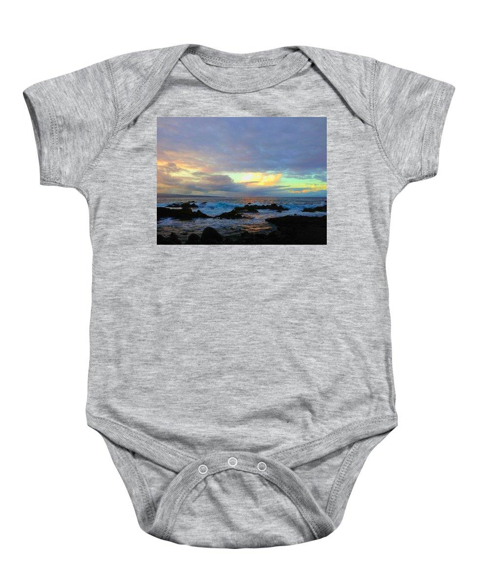 Hawaiiana Baby Onesie featuring the digital art Hawaiian Landscape 14 by D Preble
