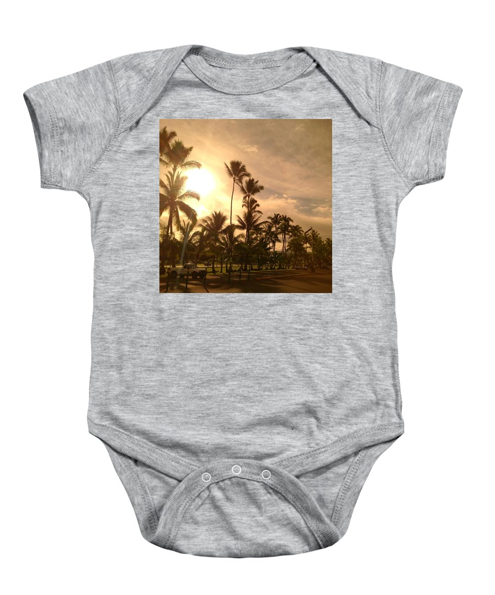 Hawaiian Landscape Baby Onesie featuring the digital art Hawaiian Landscape 7 by D Preble