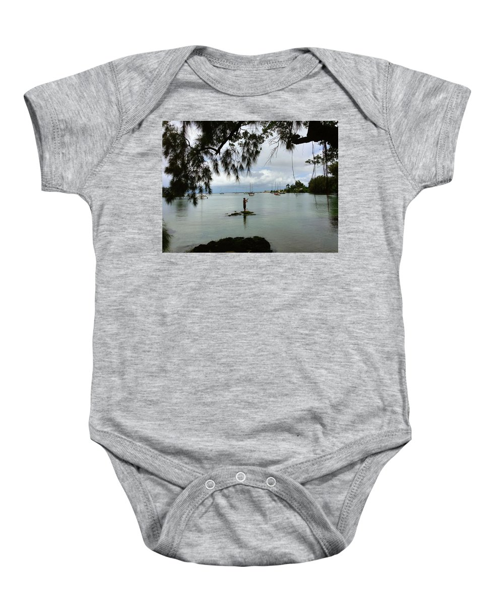 Hawaiiana Baby Onesie featuring the digital art Hawaiiana 33 by D Preble