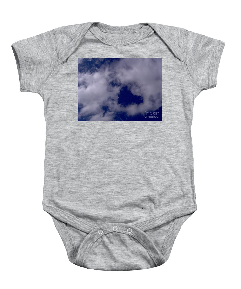 Heart Baby Onesie featuring the photograph Heart In The Clouds by D Hackett