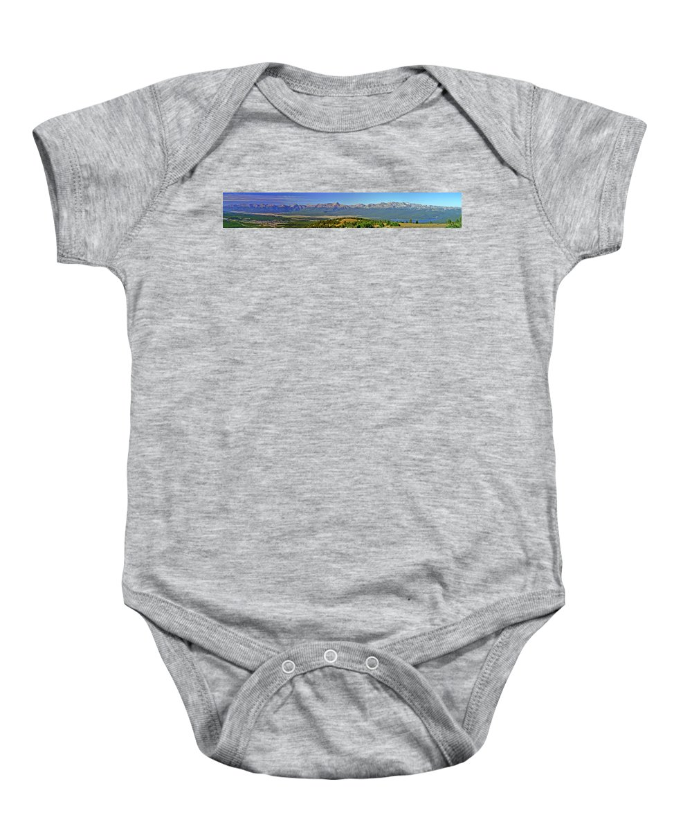 Rocky Mountains Baby Onesie featuring the photograph Heart Of The Sawatch Panoramic by Jeremy Rhoades