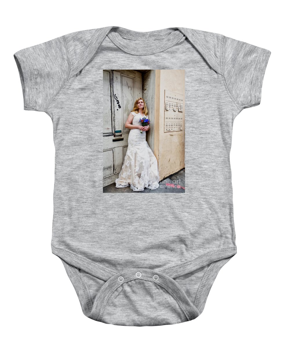 Bride Baby Onesie featuring the photograph Heather On Royal St. by Kathleen K Parker