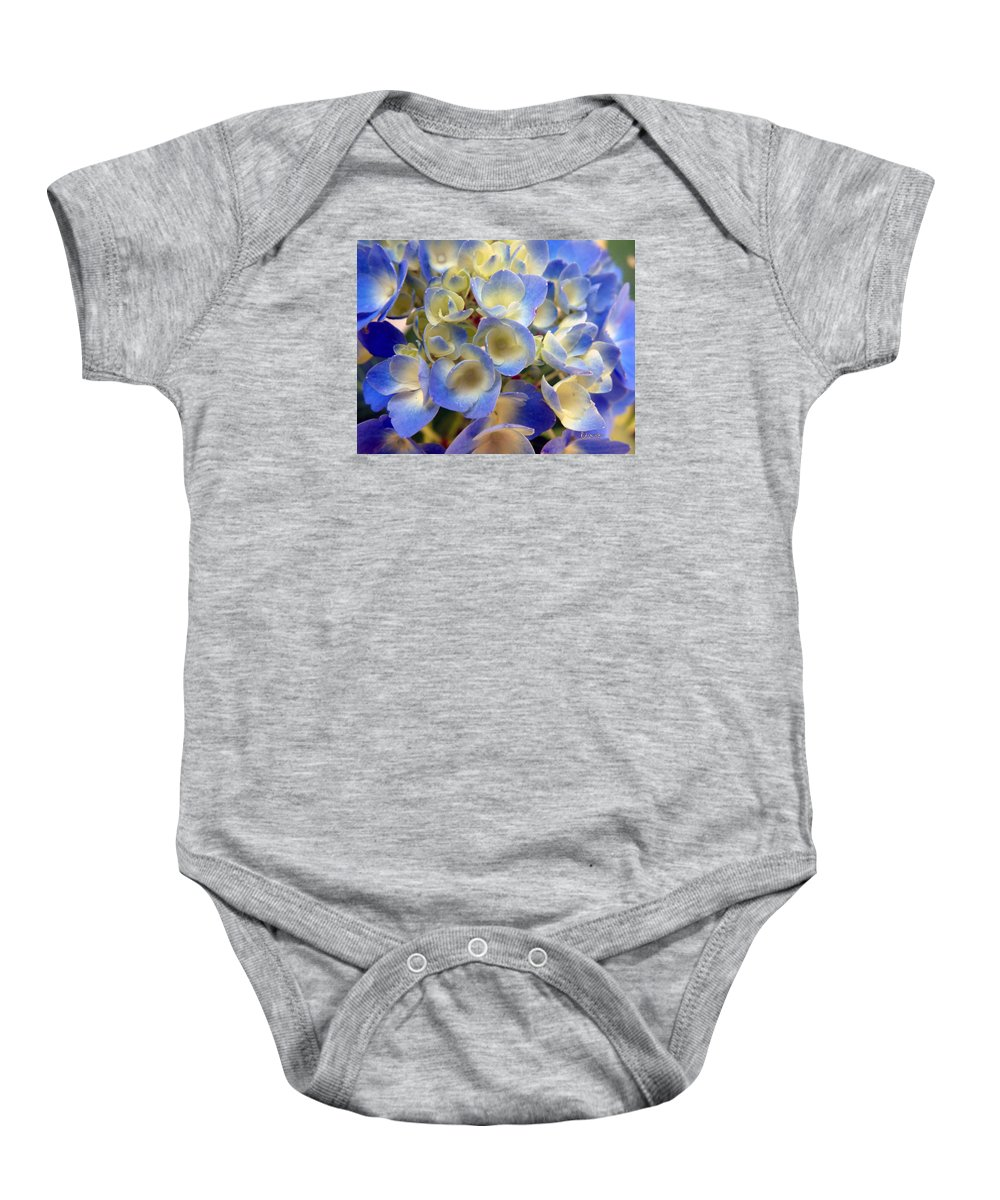 Floral Baby Onesie featuring the photograph Heavenly Blues by RC deWinter