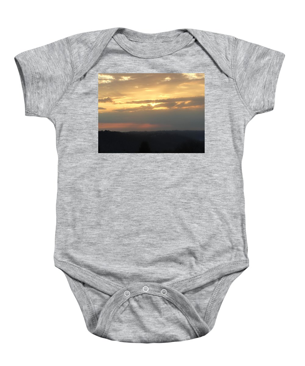 Sky Baby Onesie featuring the photograph Heavens Above by Stephanie Irvin