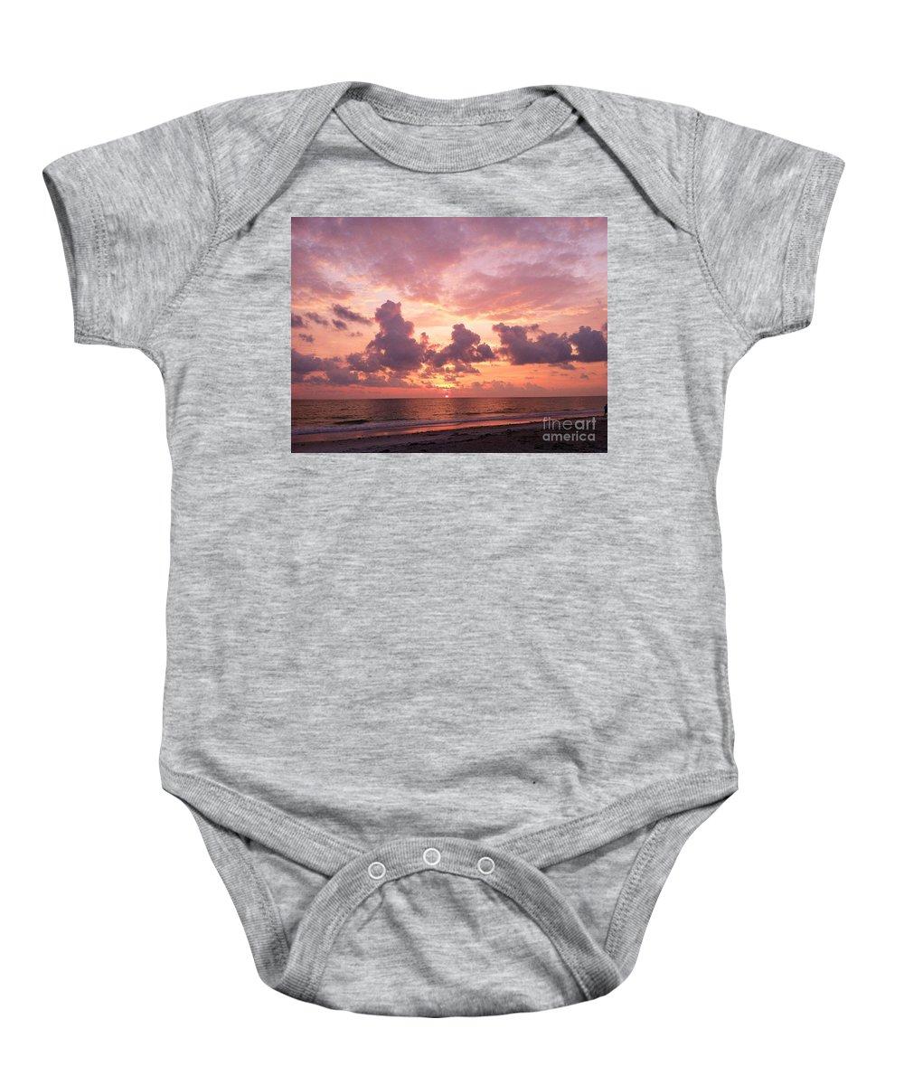 Heaven Baby Onesie featuring the photograph Heavens Glow by Melissa Darnell Glowacki