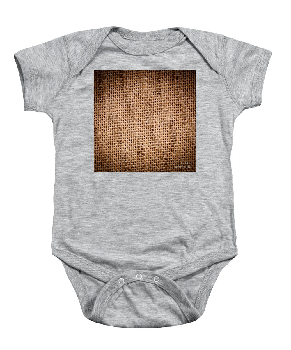 Backdrop Baby Onesie featuring the photograph Hessian by Tim Hester