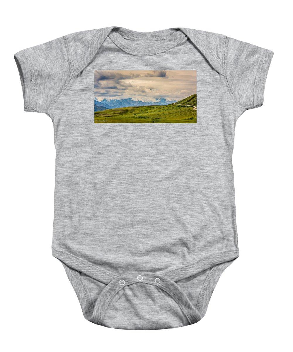 Mckinley Baby Onesie featuring the photograph Hidden Giant by Andrew Matwijec