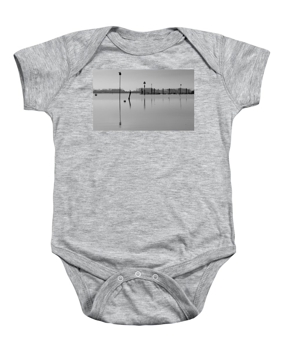 Emsworth Baby Onesie featuring the photograph High Tide Ripples by Robert Phelan
