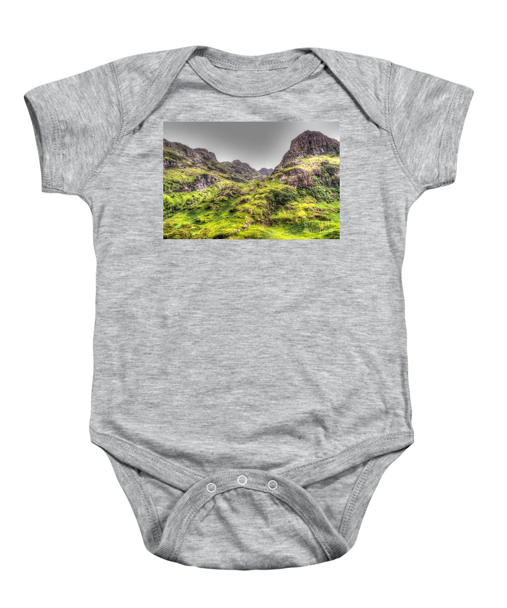 Scotland Baby Onesie featuring the photograph Highlands by Traci Law